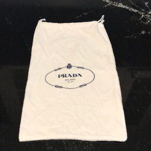 Prada Flannel Shoe Bag